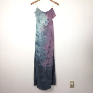 Gypsy 05 silk ruffle tube maxi dress XS